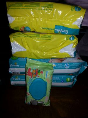 Size 1 PAMPERS for Sale in St. Louis, MO