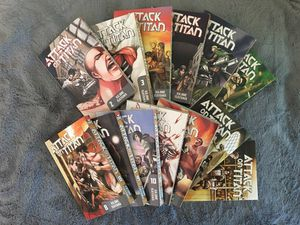 Attack On Titan Manga Volumes 2-14 for Sale in Manchester, CT