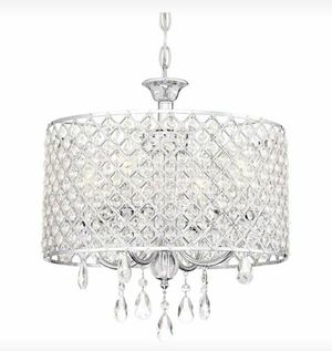 Modern Crystal Chic Chandelier 4-Light Pendant Ceiling Light Fixtures Lamp Living Room for Sale in Brooklyn, NY