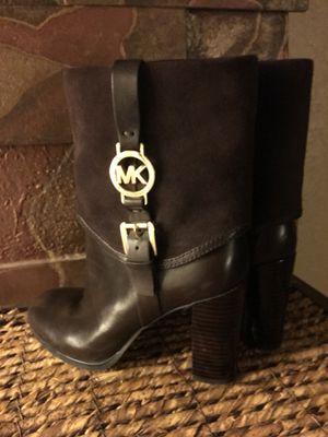 Michael Kors Brown Leather Booties for Sale in Tarpon Springs, FL