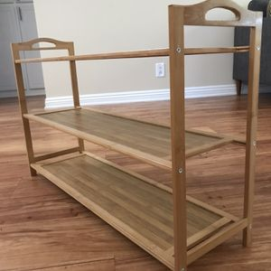 Bamboo shoe rack for Sale in Los Angeles, CA