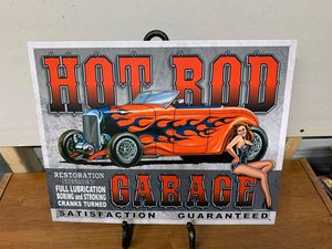 Hot rod garage tin sign for Sale in Lakeland, FL
