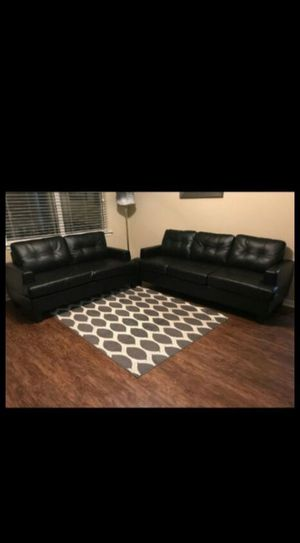 New black leather sofas for Sale in Columbia, SC