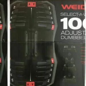 WEIDER Adjustable 100LB Total Dumbbell Set for Sale in Whittier, CA