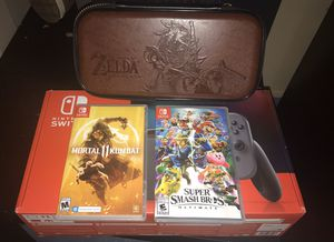 Nintendo switch and 2 games for Sale in Aurora, IL