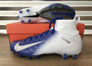 Nike Vapor Untouchable Pro 3 Football Cleats White Blue Silver SZ 11 for Sale in South Gate, CA