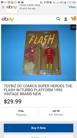 Vintage DC FLASH action figure still in package for Sale in Clovis, CA