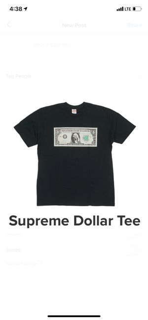 Supreme dollar tee for Sale in New York, NY