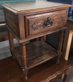 Wooden 1 Drawer End Table for Sale in Philadelphia, PA