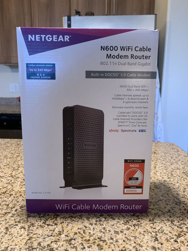 Netgear N600 WiFi Cable Modem Router 300gbps 8 x 4 cox DOCIS 3.0