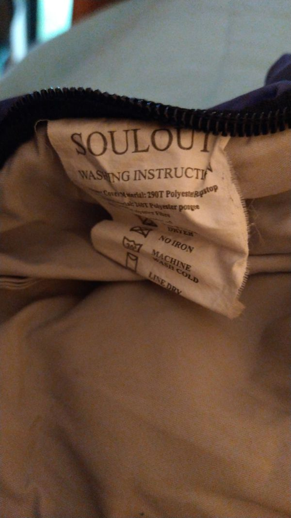 Soulout brand sleeping bag