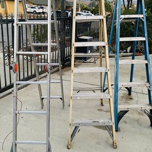 THREE LADDERS FOR SALE (BUNDLE/INDIVIDUAL) for Sale in Simi Valley, CA