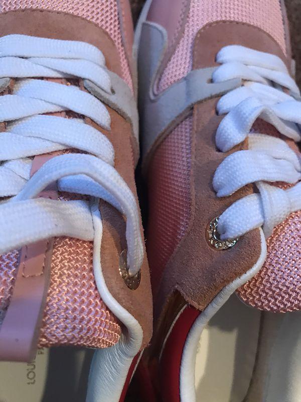 LV Pink Run Away Mesh Low-Top Womens Size 8 Sneakers