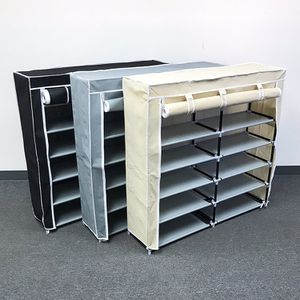 """New in box $25 each 6-Tiers 36 Shoe Rack Closet Fabric Cover Portable Storage Organizer Cabinet 43x12x43"""" for Sale in City of Industry, CA"""