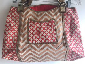7 FOR ALL MANKIND CANVAS LEATHER TOTE SHOPPER BAG PURSE HANDBAG for Sale in Huntington Beach, CA