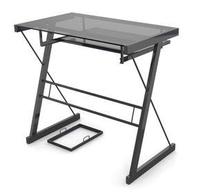 Black glass desk for Sale in Rumson, NJ