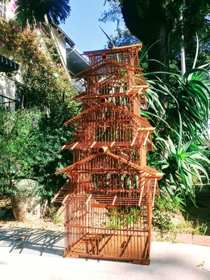 Vintage Bamboo Pagoda Five-Tier Birdcage for Sale in West Hollywood, CA