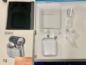 True wireless earbuds (TOZO T6) waterproof Bluetooth wireless charging for Sale in Bellevue, WA