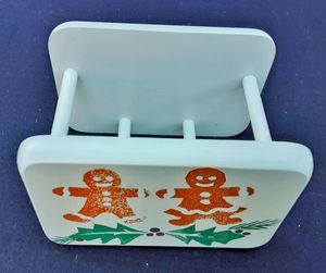 Tienshan go with Gingerbread man wooden napkin or recipe card holder.... for Sale in Saginaw, MI