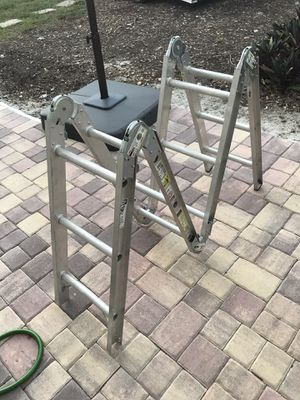 Werner 12 ft Aluminum Folding Multi-Position Ladder M2-6-12 for Sale in Fort Lauderdale, FL