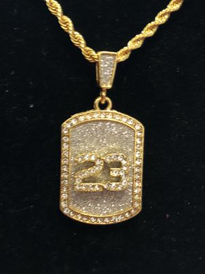 Hip-Hop Iced Out Dog Tag Pendant No. 23 for Sale in Seattle, WA