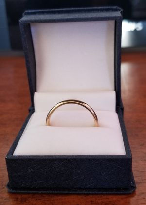 14k yellow gold mens wedding ring / band sz 11 for Sale in Payson, AZ