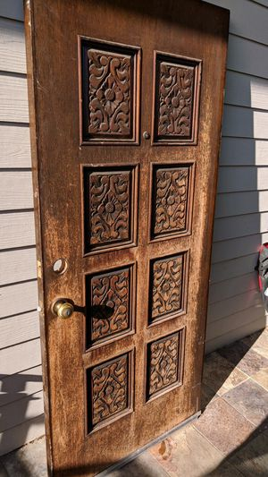 Exterior wood door$100 steel 6 panel door 32innew $250 for Sale in San Jose, CA