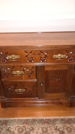 Over 100 years old, Antique very rare . Handcrafted detail engravings with pullout drawers Baby Changing Table for Sale in Boston, MA