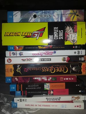 Small Collection of Anime DVDs and Blu-rays for Sale in Salinas, CA