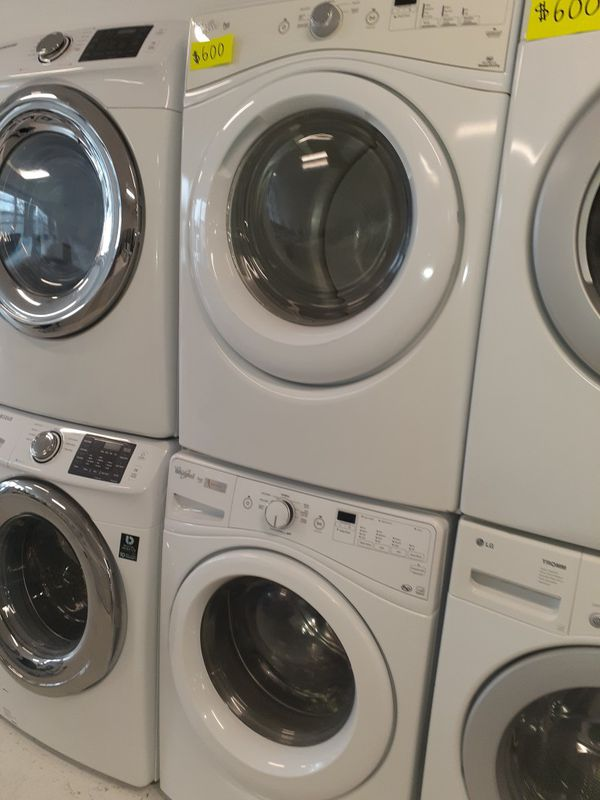 Whirlpool front load washer and electric dryer set in excellent condition with 90 days warranty