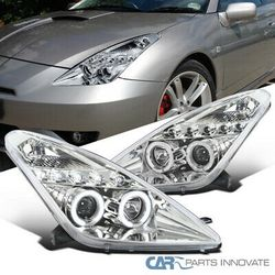 Toyota 00-05 Celica Clear Halo Projector Headlights Head Lights Lamps Pair for Sale in Whittier,  CA