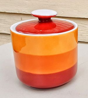 Block chromatics go with mid century 1970s modern sugar bowl MADE IN JAPAN for Sale in Saginaw, MI