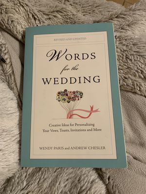 Words for the wedding book for Sale in Escondido, CA