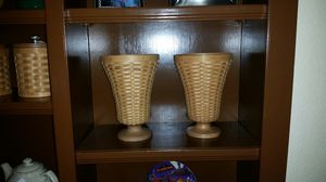 Longaberger Collector's Club floral vase with protector for Sale in Arlington, TX