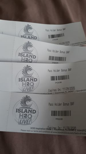 H2O island water park day pass for Sale in Kissimmee, FL