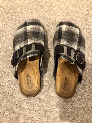 Compared to Birkenstock BOSTON clog Shoes white black size 6 for Sale in Arlington, VA