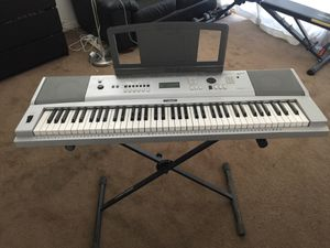 Yamaha 76-key Portable Keyboard Model DGX-230 and Stand for Sale in Burbank, CA