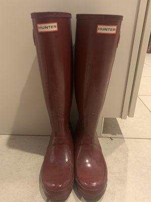 Maroon Hunter Rain Boots for Sale in Maricopa, AZ