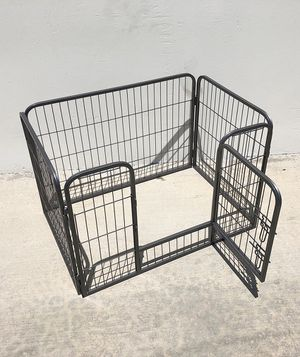 """(NEW) $55 Heavy Duty 37""""x25""""x24"""" Pet Playpen Dog Crate Kennel Exercise Cage Fence, 4-Panels Play Pen for Sale in Pico Rivera, CA"""