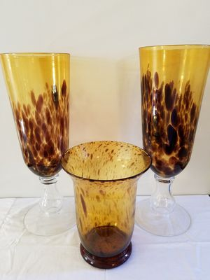 Vases, glasses, decor, blown glass for Sale in Sanford, NC