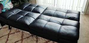 Black leather futon sale for only 60 for Sale in MONTGOMRY VLG, MD