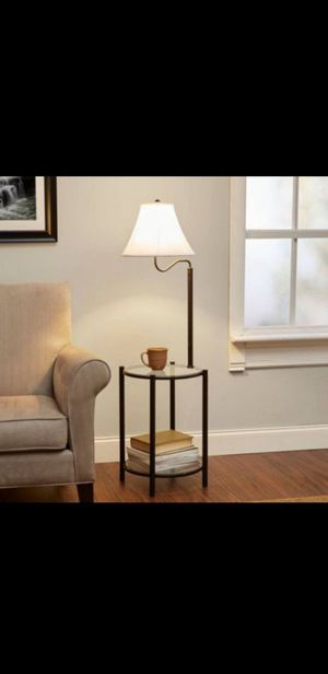 Side Coffee Table With Lamp Attached for Sale in Pompano Beach, FL