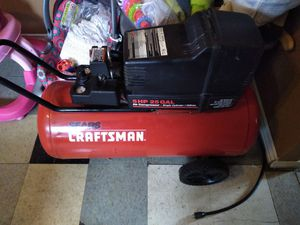 Air compressor dewalt drill and shop vac and hammer drill everything is like new for Sale in Detroit, MI
