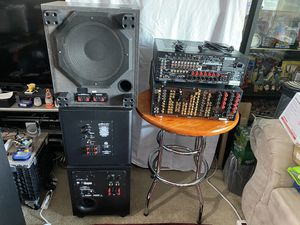 Repair or Parts- Polk Audio PSW 110 Blk 110 V, KEF Coda S, Optimus PRO SW, Pioneer Elite Receiver, Marantz Receiver for Sale in San Diego, CA