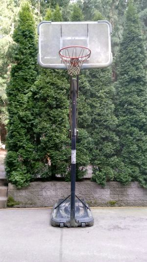Adjustable height basketball hoop for Sale in Lynden, WA