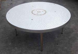Mid century mosaic tile top coffee table for Sale in Tampa, FL