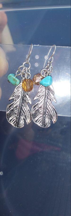 Feather hook drop earrings for Sale in Montclair, CA