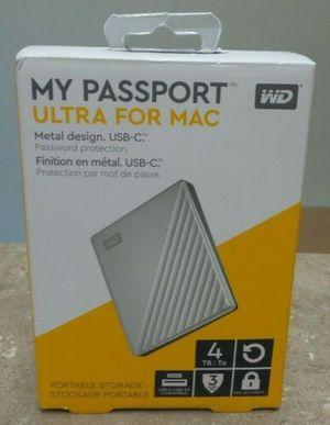New Western Digital My Passport 4TB - Ultra Mac Silver for Sale in Coachella, CA