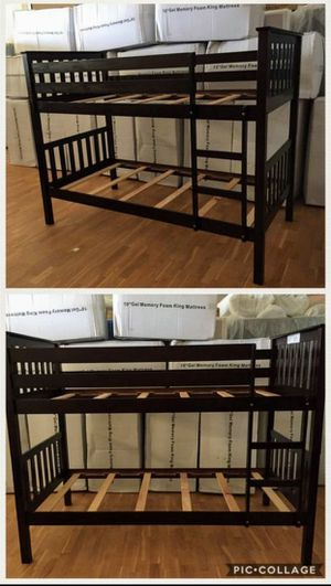 Twin size over Twin size Bunk bed frame for Sale in Glendale, AZ