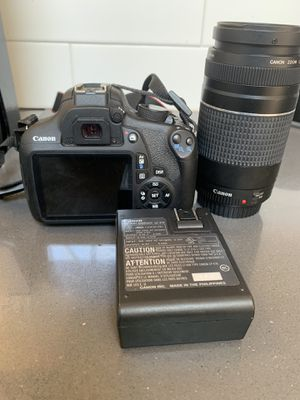 Canon rebel t5i in perfect condition. Barely used. The camera comes with 2 lenses, original carrier bag , original battery and charger. for Sale in Brooklyn, NY